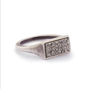 {Kendra Scott} Glenna Platinum Drusy Ring